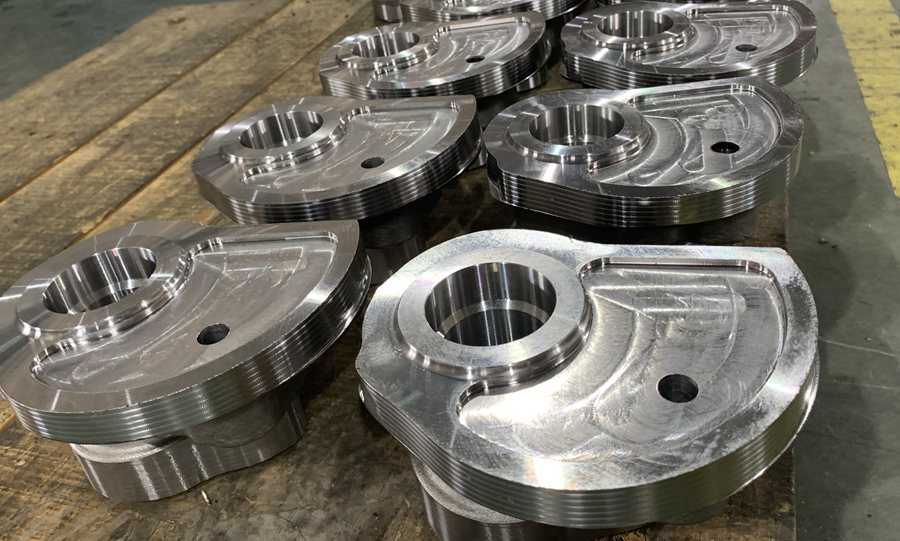 Rough machining on casting parts