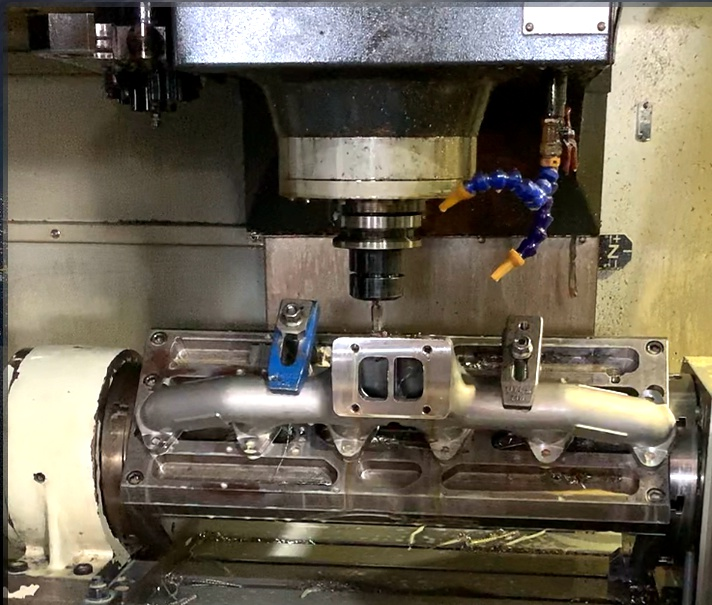 machining stainless steel exhaust manifolds